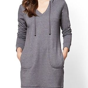 New York & Company Hoodie Sweatshirt Dress - S